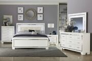 Bedroom Set Led White Queen And King Dresser Mirror And Nightstand