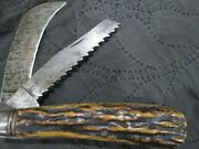 Antique Stag Horn Trinity Works Sheffield Pruning Knife Peter Henderson And Co.