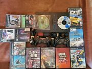 Sony Ps2 System Bundle 14 Games, 2 Controllers, 2 Memory Cards + Cords Clean