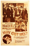 Way Out West 1930 One Sheet Poster On Linen For William Haines Western-spoof