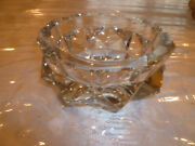 Rare Large Collectible French France Baccarat Crystal Cigarette Ashtray