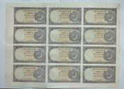 Uncut Sheet Pakistan 2 Rupee 12 Notes Without Signature Extremely Rare