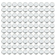 100 Pieces Empty Eyeshadow Blush Makeup Pans For Magnetic Palette Box Round