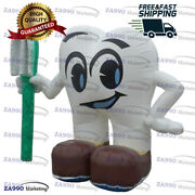 5.9ft Inflatable Dental Tooth Cartoon And Toothbrush Advertising With Air Blower
