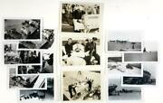 1947 Lot Of 14 Pics, Us Navy Transfers Marine W Polio In Iron Lung Medical China