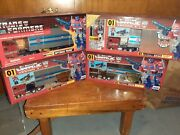 Transformers Japanese Jafcon G1 Black Optimus Prime And Optimus Prime New Year Lot