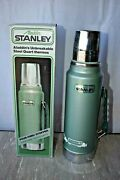 Vintage Stanley Thermos By Aladdin Vacuum Bottle A944dh Quart Green Work Truck