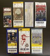 Ohio State Vs. Michigan Football Lot Of 7 Stubs And Full Tickets 2003-2009