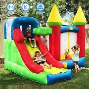 Yard Bounce House With Slide 0.4mm Vinyl Extra Thick Bouncing Floor Indoor Ou...