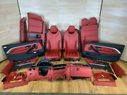 ✅14-17 Oem Bmw F33 Door Panels Front Rear Heated Seats Leather Interior Setnote