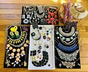 Statement Costume Jewelry Designer Eclectic Auction Box Completely Assorted