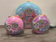Pikmi Pops Surprise Doughmis Medium + Small Donuts Lot Of 3 Plush Jelly Mystery