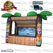 15x10ft Inflatable Tiki Bar Pub Booth Beach Party With Air Blower