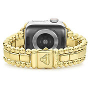 Lagos Smart Caviar18k Gold Plated 44mm For Apple Watch Series 2 3 4 5 6