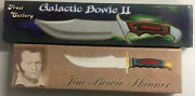 Galactic Bowie Ii And Jim Bowie Skinne Knifes W/ Sheaths Frost Cutlery 2 Knives Pk