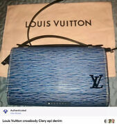 Louis Vuitton Clery Epi Denim Crossbody Bag Authenticated Hard To Find