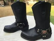Red Wing Engineer Biker Harness Boots-model 969-mens Sz 9 D-15 Shipping