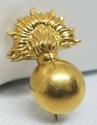 Wwii And Co. Pin Bronze Military Insignia 6.97 Grams