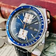 Seiko Speed Timer 6138-0030 Chronograph Vintage Automatic Mens Watch Auth Works