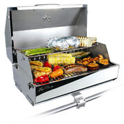 Marine Boat Gas Grill Stainless Steel Rv Barbecue Thermometer Bbq Grills Lid