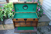 Vintage Oak 7 Drawer Machinists Tool Box - Antique Tool Chest