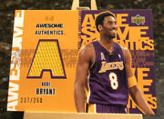 2002 Upper Deck Awesome Authentics Kobe Bryant Game Used Jersey Relic /250 Kb-a