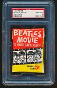 1964 Topps Beatles Movie Unopened Wax Pack Psa 8 - Tough 1/2