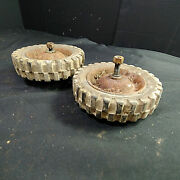 Vintage Clinton Vs400 Push Lawn Mower Front Left And Right Wheel And Tire Combos