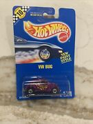 Vw Bug Volkswagen Early Collector 171 Hot Wheel Blue Card 1990