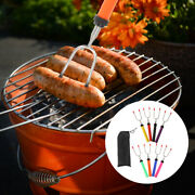 8pcs Rotated Colored Extendable Skewers Barbecue Forks For Camping Bbq Outdoor
