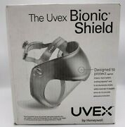 New Uvex Bionic Face Shield With Clear Polycarbonate Visor And Anti-fog/hard Coat