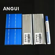 Solar Cell 3x3and039 Polycrystalline Photovoltaic Solar Cells Kits 7877mm 50pcs 1.05