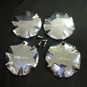 Mb Motoring Wheel Center Hub Caps With Bolts, Chrome, Plastic, 6, Set Of 4