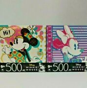 Disney Puzzles Minnie Mouse 500 Piece Jigsaw Puzzles 11 X 14 New Lot Of 2