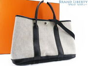 Auth Hermes Garden Party Tpm Tote Bag Hand Bag