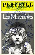 Les Miserables Obc Signed Playbill Terrence Mann Colm Wilkinson Coa