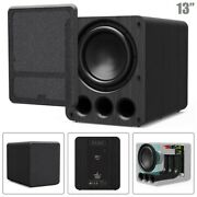 13 2000w Powered Subwoofer Audio Speaker Amp Amplifier For Home Theater Black