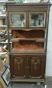 1800and039s Antique Etagere Bevel Glass Cabinet All Original Excellent Condition