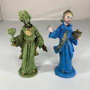 Vintage 4 King Plastic Nativity Figures Wiseman Lot Of 2 Made In Italy