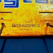 Vintage 1930and039s 40s 50s Dayton Fan Belt Advertising Sign Rack Can Gas Oil Display