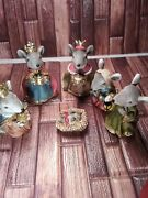 Mouse Mice Nativity Set Approx. 4 1/2 - 5 Inches