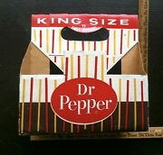 Vintage 1950's Dr Pepper Candy Striped Bottle Carrier Rarely Seen King Size