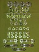 Antique Pressed Glass Furniture Drawer Knob Or Pull 1850s Era Lot Of 44