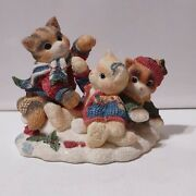 Calico Kittens Three Little Kittens Who Lost Their Mittens Cat Figurine 1998