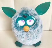 """2012 Hasbro Furby A Mind Of Its Own """"green Man""""white And Turquoise Fur - Works"""
