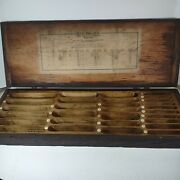 Antique Wooden Box Dovetailed Ace Drills Detroit Michigan Usa