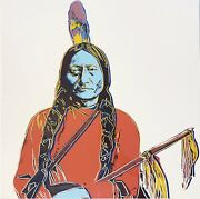 Andy Warhol- Sitting Bull - Cowboys And Indians- A Rare Beauty- Last One