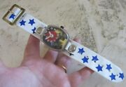 Vintage Childand039s Toy Watch. See Saw Moving Gears. Working