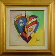 Alfred Gockel Framed 2005 Giclee On Canvas Starlit S/n With A Park West Coa