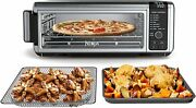 """Ninja Sp101 Foodi Counter-top Convection Oven, 19.7"""" W X 7.5""""h Stainless Steel."""
